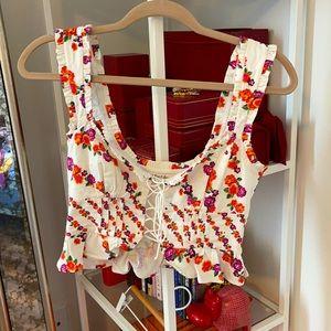For love & lemons floral top